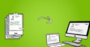 illustration digitalisation de documents