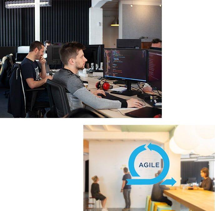deux photos collaborateurs tipee en mode agile